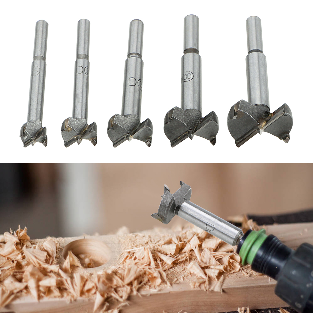 Drill Bit Wood Drilling Drilling Pilot Holes Woodworking Hole Opener 15/20/25/30/35MM Hinge Boring Woodworking Hole Saw Cutter