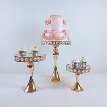 3-Piece Two Usage Cake Stand Set Dessert Display Cupcake Stands with Multiple Free Combination Styles for Baby Shower