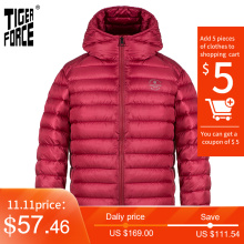TIGER FORCE 2020 New Men's Winter Jacket Hooded cotton Red wine Jackets Sports fashion