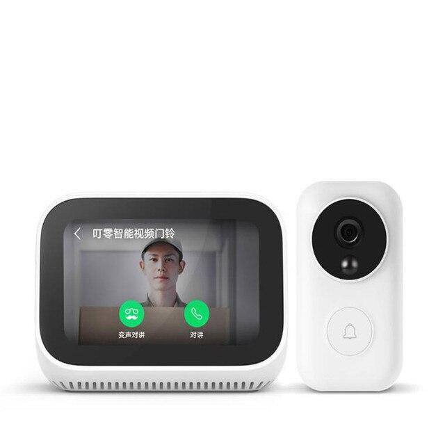 Xiaomi Mi AI Video kapı zili dokunmatik ekran Bluetooth 5.0 hoparlör dijital ekran çalar saat WiFi akıllı bağlantı hoparlör