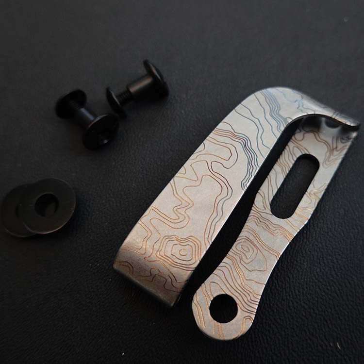 Titanium Alloy K Sheath Back Clip Leather Goods Clip Lightweight Portable Tool Tactical Spare Parts