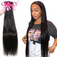 CEXXY brasileño recto extensiones de pelo ondulado 100% extensiones de cabello humano 3 4 Uds 30 32 34 36 38 40 pulgadas Remy extensiones de cabello largo