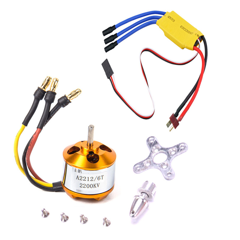XXD A2212 2200KV 2212 Brushless Motor+<font><b>6035</b></font> <font><b>propeller</b></font>+SG90 9g Micro Servo*2 + 30A ESC Combo for RC Airplane Fixed-wing Helicopter image