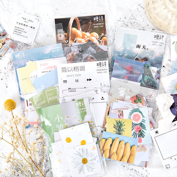 Streaming Photo Collection Series Cute Custom PET Sticker Diary Stationary Flakes Scrapbook DIY Decorative Label Stickers Set