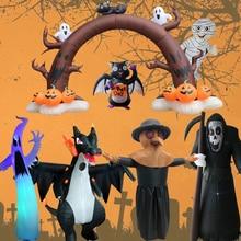 2021 New Halloween Blow Up Inflatables Inflatable Dead Tree Ghost Pumpkin Owl Grim Reaper for Halloween Yard Outdoor Decorations