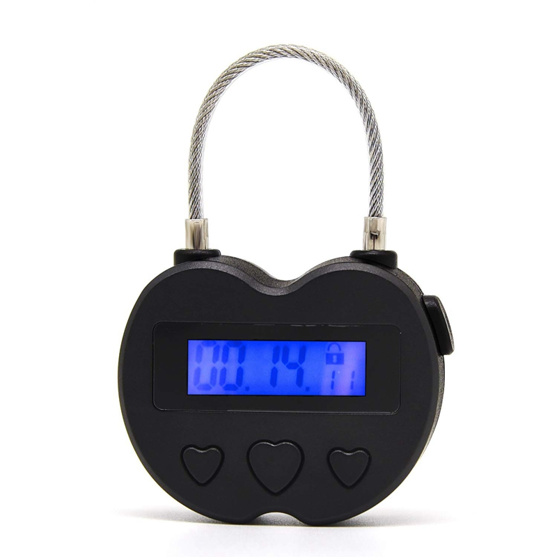 Smart Time Lock LCD Display Time Lock Multifunction Travel Electronic Timer, Waterproof USB Rechargeable Temporary Timer Padlock