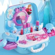 Дисней Принцесса игрушки замороженные девочки игрушки туалетный Макияж игрушки набор детский макияж Замороженные 2 детские игрушки макияж Игрушки для девочек Рождественский подарок