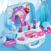 Disney игрушки для принцесс замороженные девочки игрушечный набор игрушечный Макияж Набор Дети макияж игрушки frozen