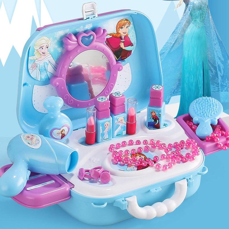 Disney Princess Toys Frozen Girls Toys Dressing Makeup Toy Set Kids MakeupFrozen Toys