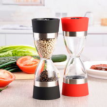 2pcs Dual-purpose Pepper Grinder Adjustable Pepper Mill Home Manual Pepper Powder Grinding Seasoning Bottle Jar Kitchen Gadgets natural bamboo pepper mill manual pepper grinder pepper powder black pepper grinder environmentally friendly material