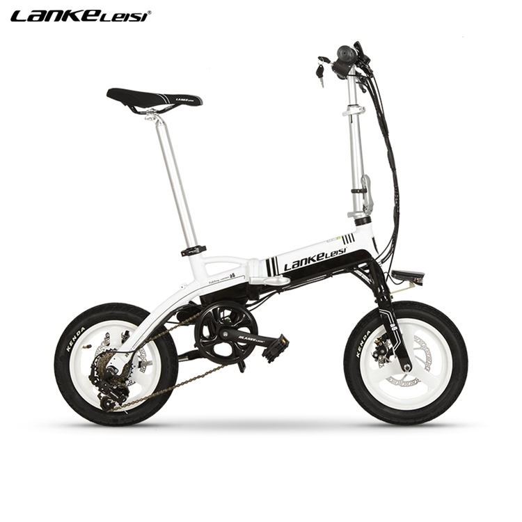 "A6 EU Quality Level 14"" inch portable Folding Electric Mini Bicycle Adjustable  for Cycling with LG Lithium Battery 3"