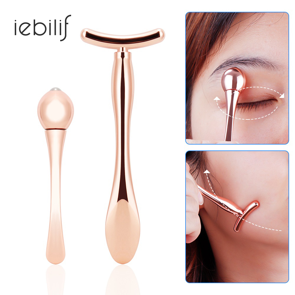 Mini Eye Massage Stick Anti Eye Pouch Dark Circles Massager For Eyes Care Tools T-shape Face Lifting Thin Face Magic Stick Small