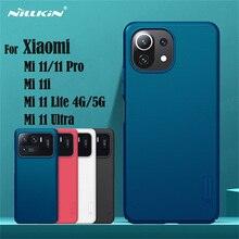 Pour Xiaomi 11 Lite 4G 5G étui Nillkin givré bouclier étui dur PC protecteur couverture arrière pour Xiaomi 11 Pro mi 11i mi 11 Ultra