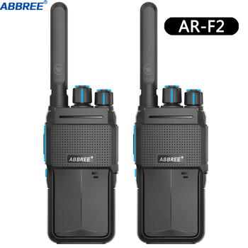 2pcs abbree ar-f2 mini walkie talkie portable radio station two way radio uhf band 400-480mhz hf transceiver bf-888s uv-5r