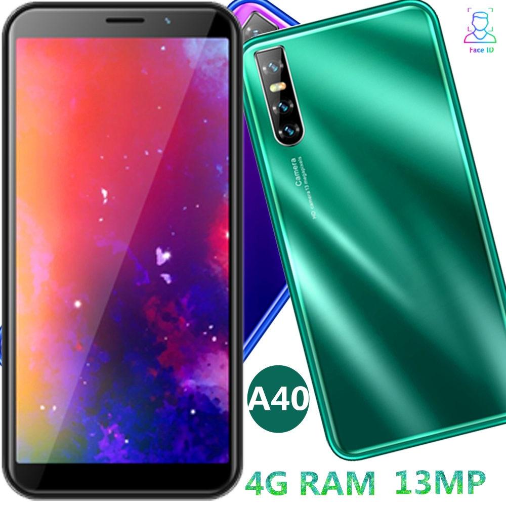 Teléfono Inteligente A40, versión global, 4 GB RAM, 64 GB rom, cámara de 13MP, pantalla de 6,0 pulgadas, identificación facial, desbloqueado, quad core, android, play store