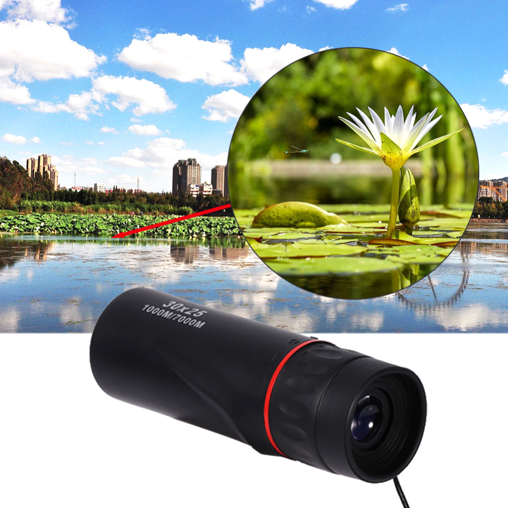 Hot Selling HD 30x25 Monocular Telescope Binoculars Zooming Focus Green Film Binoculo Optical Hunting High Quality Tourism Scope