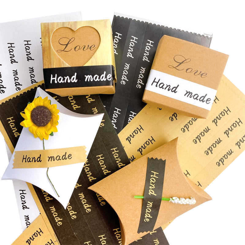 120pcs/lot Long Strip Handmade Sticker Labels Decoration Label Stationery Sticker DIY Gifts