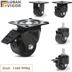 Супер-нагрузка 300 кг, 2-дюймовые низкие центральные ролики/колеса, для тяжелых тележек, машинный инструмент, большое оборудование, домашнее/п...