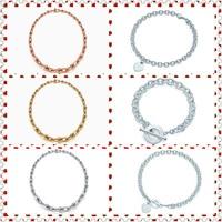 SHINETUNG Original 100% S925 GraduatedLink Heart Shape Trendy Necklace Women Logo Fine High End Jewelry
