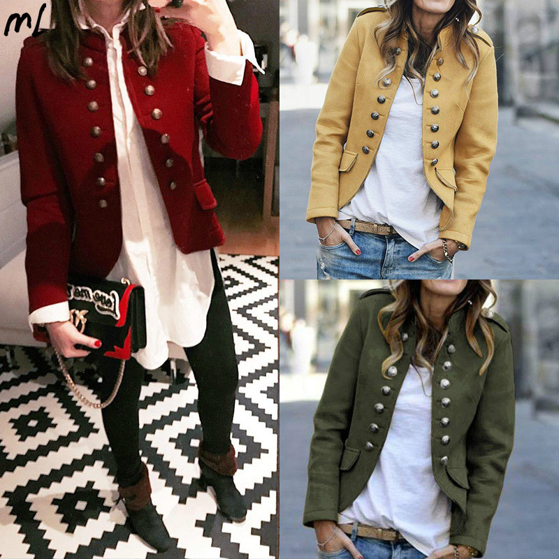 Vintage Double Breasted Women Elegant Blazer Jackets Female Retro Suits Coat Feminino Blazers Outerwear High Quality Casual Tops
