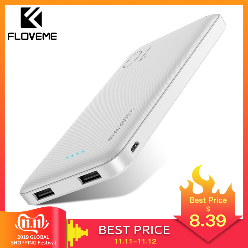 FLOVEME 10000mAh Power Bank For Xiaomi External Battery Portable Charger Double USB Mi Powerbank Poverbank Bateria Externa Movil