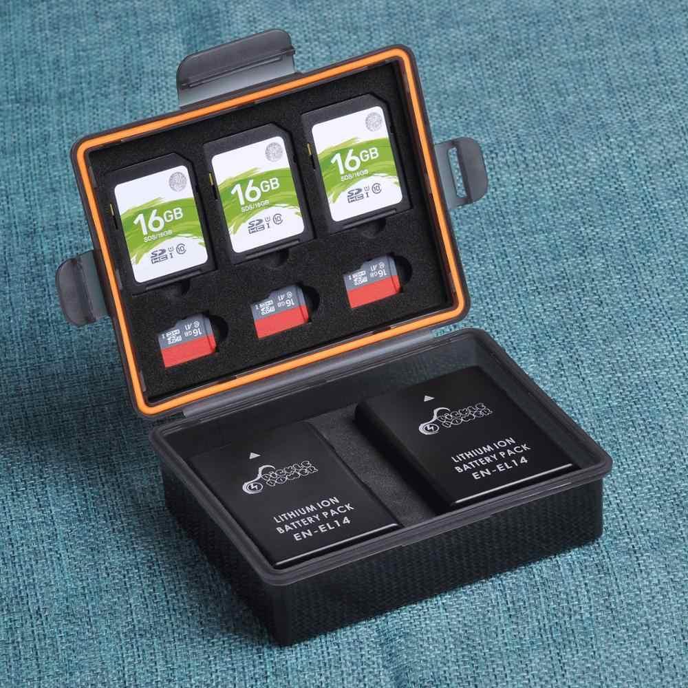 1 قطعة مربع SD TF غلاف بطاقة ذاكرة حافظة بطاريات لسوني NP-FW50 ، كانون LP-E17 ، نيكون ENEL23 ، Fuij NPW126 ، أوليمبوس BLN1 ، كوداك CR-V3