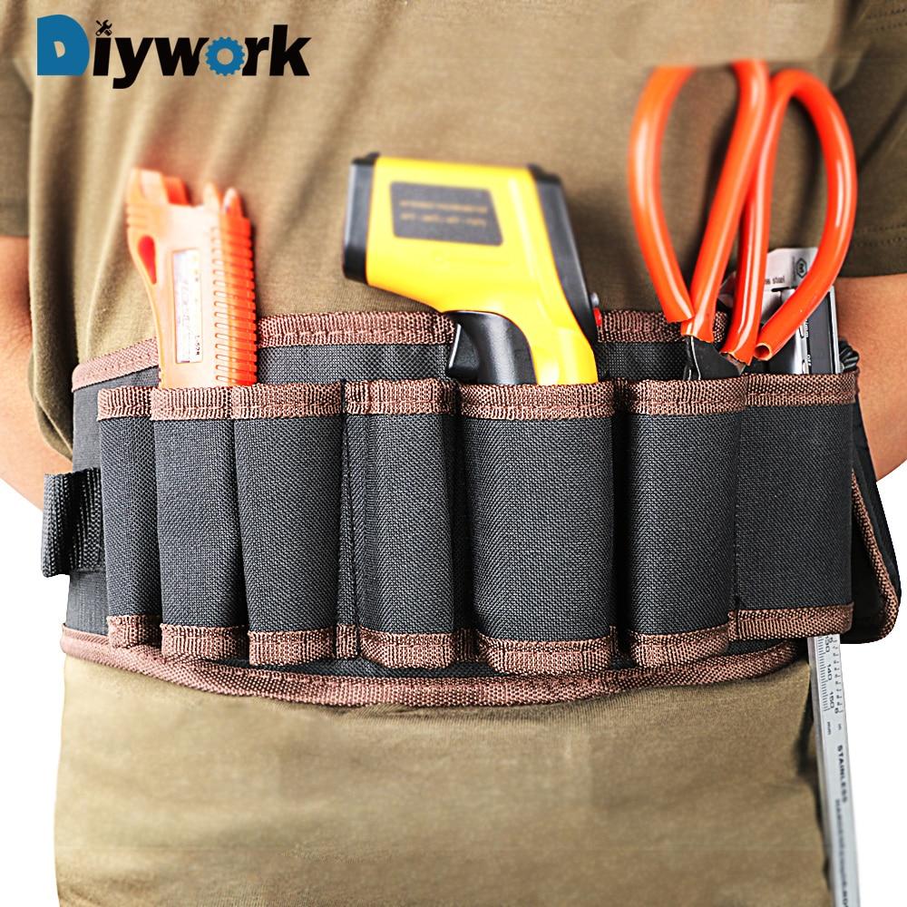 DIYWORK Multifunction Waist Tool Bag Electrician Pouch Bag Electricians Tool Storage Holder Adjustabe Belt  Tools Packaging