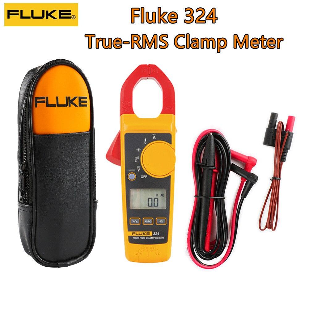 Pince multimètre Fluke 324 True-RMS avec mesures de capacité de température et sac de transport 40/400A AC 600V AC/DC