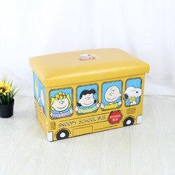 Anime Snoopy Leder Gedruckt Lagerung Folding Box Erwachsene Lagerung Hocker Sofa Hocker Großhandel