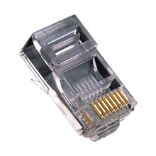 Connecteur RJ45 CAT6 modulaire pour ordinateur, 10 pièces, câble Ethernet UTP plaqué or, tête en cristal blindée à sertir pour réseau Gigabit