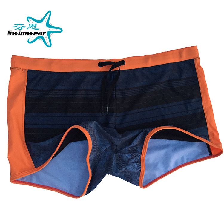 Foreign Trade Export MEN'S Swimsuit Men's Fashion AussieBum Men Plus-sized Hot Springs Swimming Trunks
