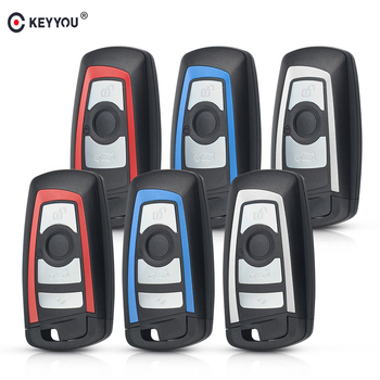 KEYYOU 10X Colorful Smart Remote Key Shell Fob Case Keyless Entry Case For BMW 1 3 5 7 Series CAS4 F F10 F20 F30 F40 Replacement image