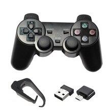 2,4G беспроводной геймпад для PS3/PC/Android/tv Box игровой контроллер Джойстик для телефона контроллер с Micro USB или type C