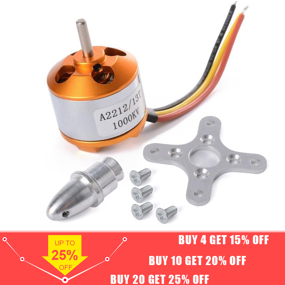 A2212 Brushless Motor 930KV 1000KV 1400KV 2200KV 2450KV 2700KV For RC Aircraft Plane Multi-copter Brushless Outrunner Motor