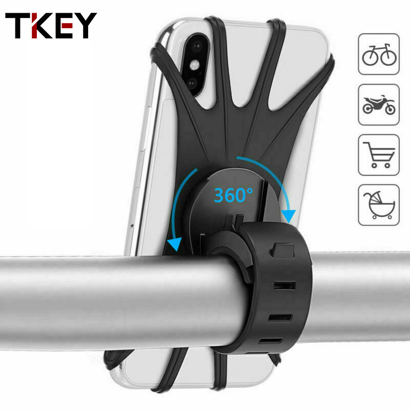 TKEY Bicycle <font><b>Phone</b></font> <font><b>Holder</b></font> Universal Motorcycle <font><b>Bike</b></font> <font><b>Phone</b></font> Mount 360 degree rotation shockproof Stand For iPhone 11 <font><b>Samsung</b></font> <font><b>S9</b></font> S8 image