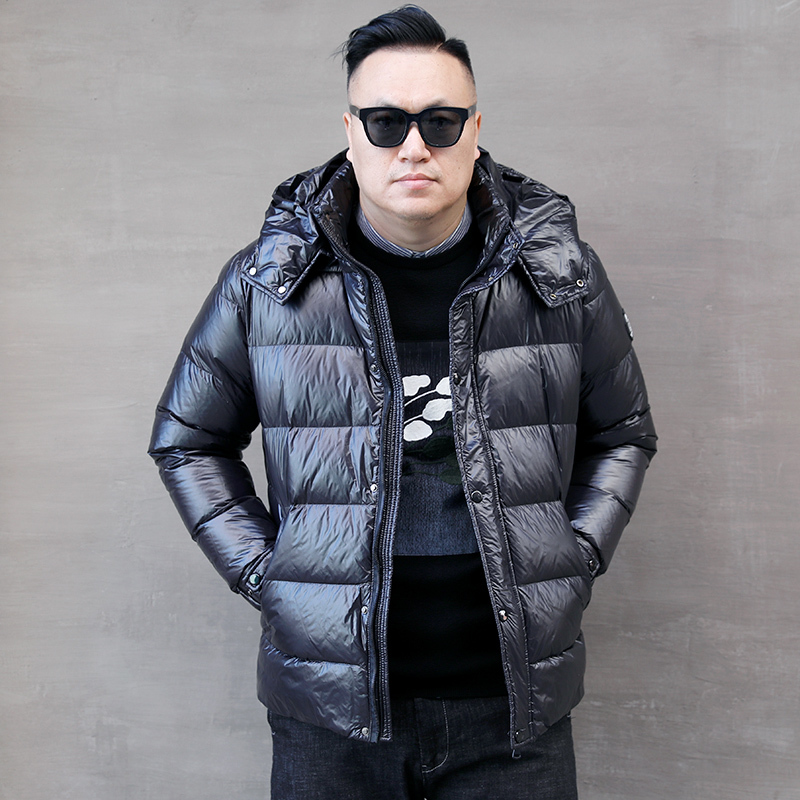 Size Plus Puffer Jacket Men Korean White Duck Down Jacket Winter Coat Men Hooded Warm Parka Down Coat Casaco 8816 YY1335