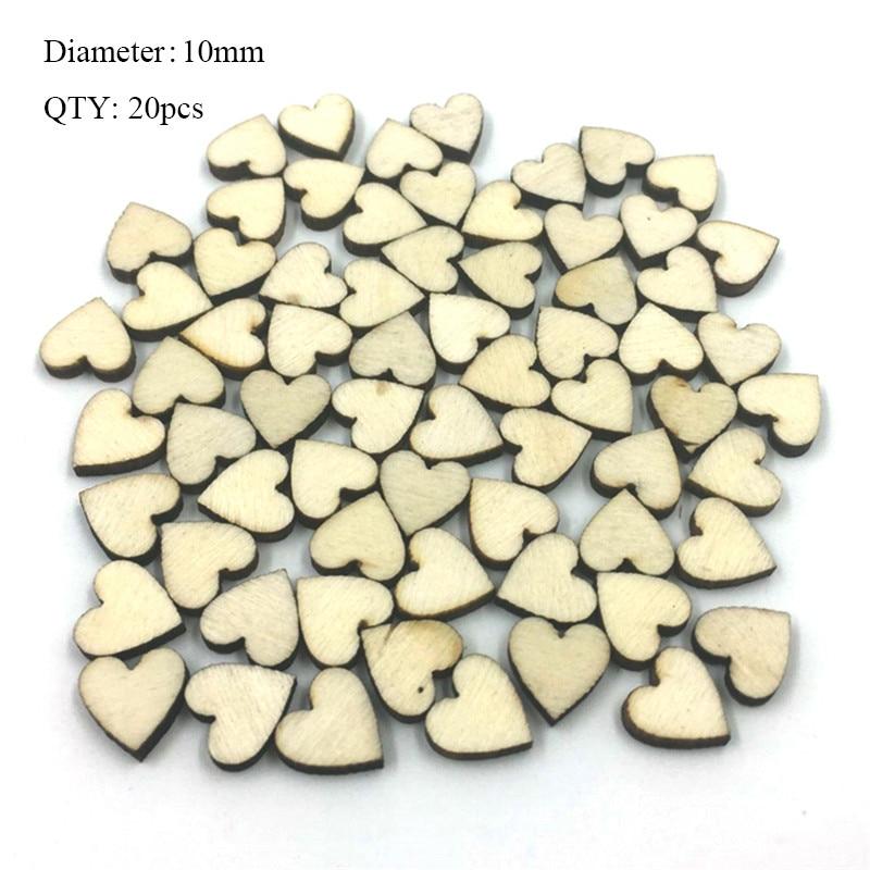 20 шт деревянные пуговицы для рукоделия, аксессуары для скрапбукинга, декорации, botones de madera para manualidades - Цвет: K01