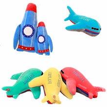 Реалистичная плюшевая игрушка самолет ракета из мультфильма