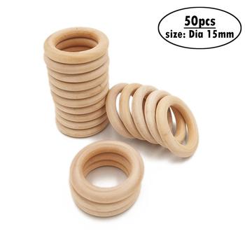 50 sztuk 15mm 0 59 #8222 drewno okrągłe pierścienie łączące drewniane koło dyski wycinanki rzemiosło dla kolczyk wisiorek biżuteria DIY Craft Making tanie i dobre opinie CN (pochodzenie) Niewykończone drewno