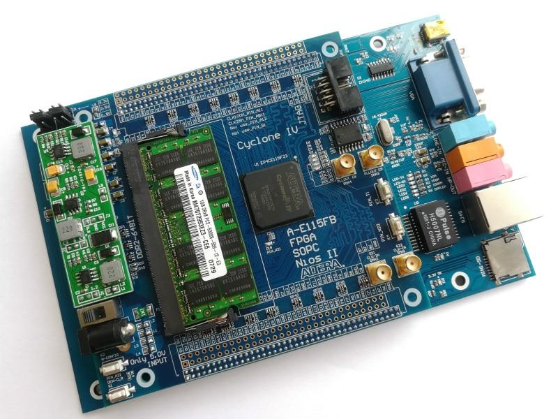 USB Blaster Cyclone IV EP4CE115F23I7N Fpga Development Board Fpga Altera Fpga Board+88E1111 RJ45+VGA+SDcard Altera Board