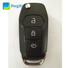 Genuíno 434 mhz 3 botão de controle remoto flip go key com hitag pro id49 para ford 2015 ~ 2018 não keyless ir