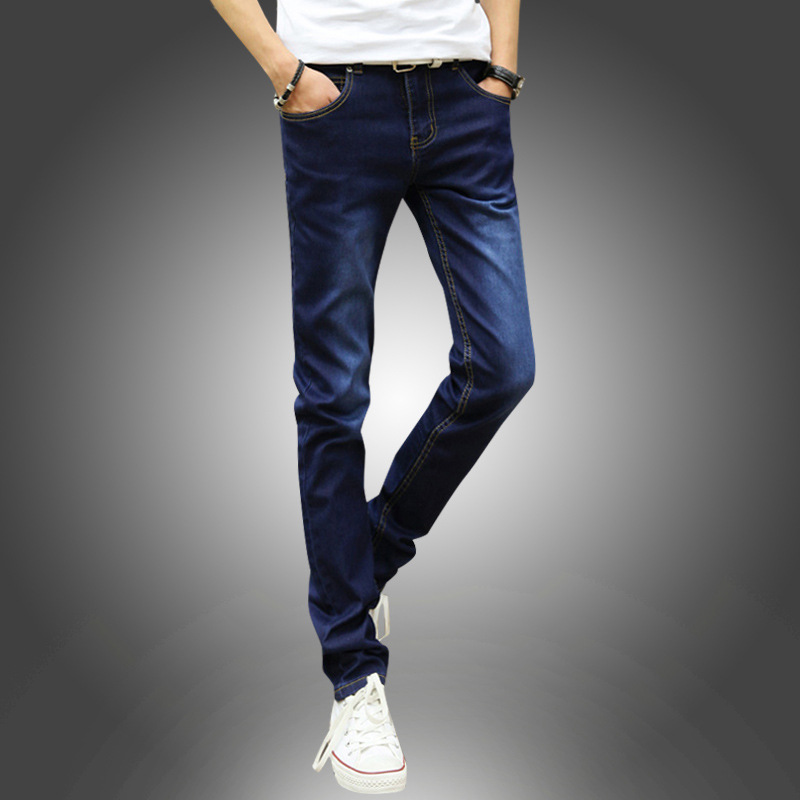 Jeans BOY'S Autumn General Teenager Slim Women's Men's Trousers Skinny Casual Korean-style Long Pants Men