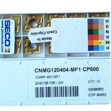 10PCS CARBIDE INSERT CNMG120404-MF1 CP500