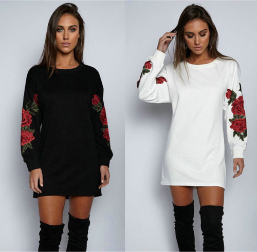 Newest Women Floral Long Sleeve Pullover Ladies Casual O-Neck Tops Shirt For Spring And Fall Fashionable Style Female Tops