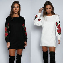 Newest Women Floral Long Sleeve Pullover Ladies Casual O-Neck Tops Shir
