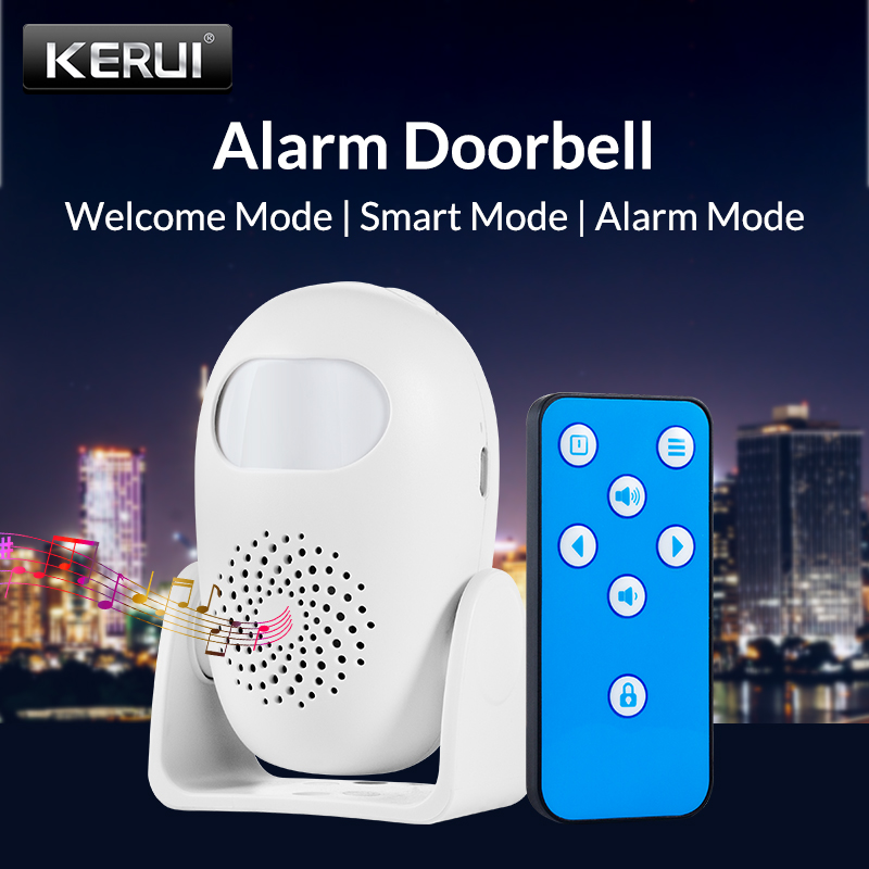 KERUI M120 Integrated Welcome Alarm Alarm Welcome Doorbell Multifunction IR Motion Sensor Remote Control Wireless Greeter
