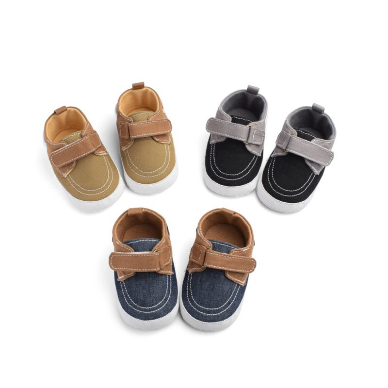Babies Infant  Boy Girl Shoes Sole Soft Canvas Solid Footwear For Newborns Toddler Crib Moccasins 3 Colors Available