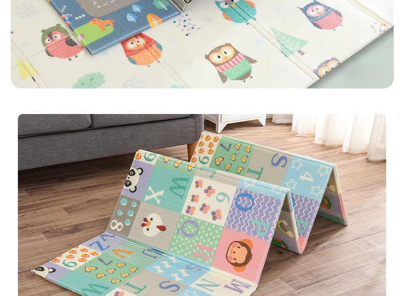 Hf63189f37b454a2aa8dc6592e9f4ec1dg Miamumi Portable Baby Play Mat XPE Foam Double Sided Playmat Home Game Puzzle Blanket Folding Mat for Infants Kids' Carpet Rug