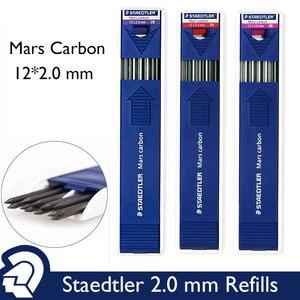 Image 1 - Lifemaster staedtler mars carbono, lápis mecânico, 200 2.00mm, recarga de chumbo, design de grafite preto