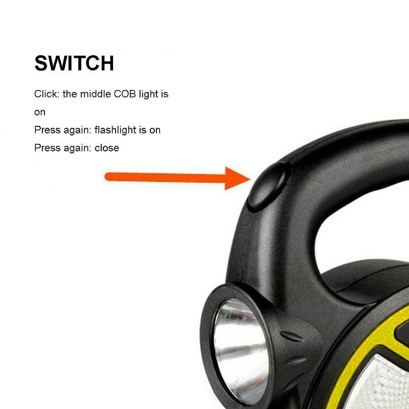 Наружный светодиодный фонарик работа лампа переноска подвешивание мини фонарь дом прожектор свет водонепроницаемый палатка лампа кемпинг фонарик